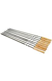 Шампура универсальные с деревянной ручкой 60 см 2 мм. толщиной