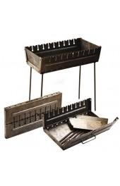 Мангал чемодан с прорезью под 10 шампуров толшина метала 2 мм