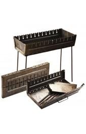Мангал чемодан с прорезью под 12 шампуров толшина метала 2 мм