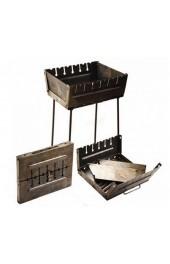 Мангал чемодан с прорезью под 6 шампуров толшина метала 2 мм