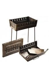 Мангал чемодан с прорезью под 8 шампуров толшина метала 2 мм