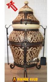 """Тандыр """"Азия"""" объём 110 литров,вес 145 кг,поворотная крышка,стенка 7см,ПОДАРКИ НА 1000 грн.!!!"""
