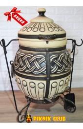 """Тандыр """"Тор""""объём 50 литров,вес 93 кг,поворотная крышка,стенка 6см. Супер цена,шампура в подарок!"""