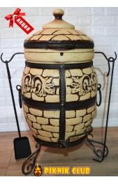 """Тандыр """"Венеция"""" объём 50 литров,вес 93 кг,стенка 6см,поворотная крышка,супер цена,шампура в подарок!"""