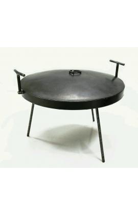 Сковорода из диска бороны 400 мм. с крышкой