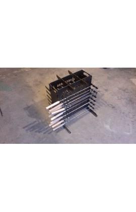 ЭКО мангал на 48 шампуров толщина метала 3 мм