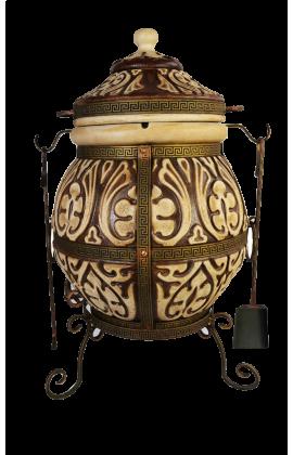 """Тандыр """"Аттика"""" не утепленный объём 85 литров,вес 140кг,поворотная крышка,стенка 7см,ПОДАРКИ!!!"""