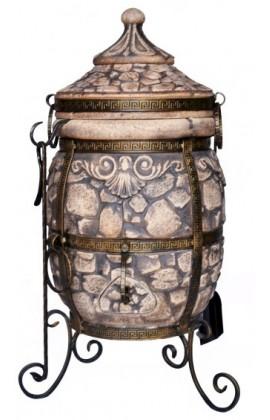 """Тандыр """"Камень"""" объём 60 литров,вес 113 кг,стенка 6см,поворотная крышка,АКЦИЯ!!!"""