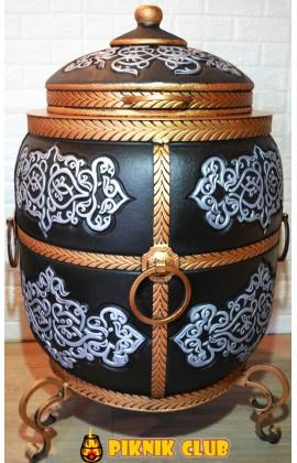 """Тандыр """"Тугарин New"""" УТЕПЛЁННЫЙ 100 литров,вес 250 кг,стенка 11 см-двойная чаша с утеплителем."""