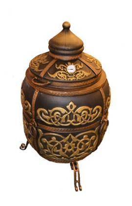 """Тандыр """"Тугарин"""" утепленный большой 170 литров цвет золото полная комплектация"""