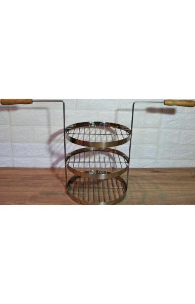 Трех ярусная сетка для тандыра с горловиной диаметром 250 мм