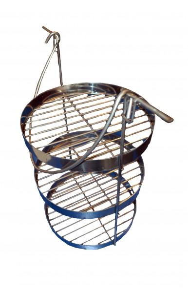 Трех ярусная сетка для тандыра с горловиной диаметром 290 мм