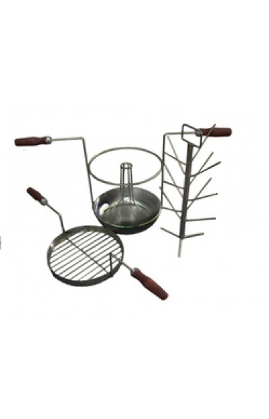 Комплект трансформер 4 в 1 чугунной сковородкой для тандыра с диаметром горовины от 220 мм.
