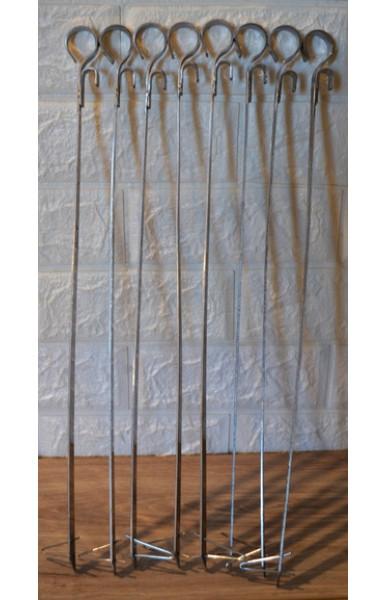 Шампур для тандыра нержавейка 40-45 см со скрепкой