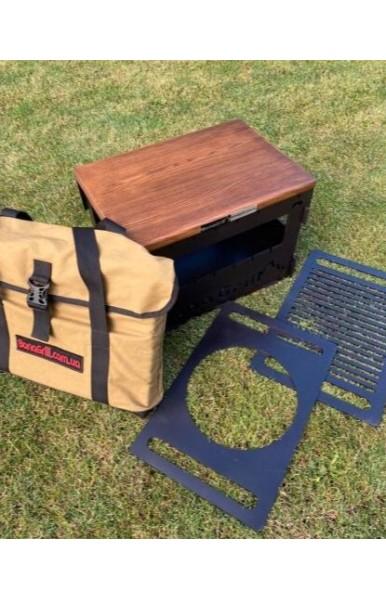 Гриь разбоной GRILL BOX BASE сталь тощиной 3 мм.в комплекте с решеткми