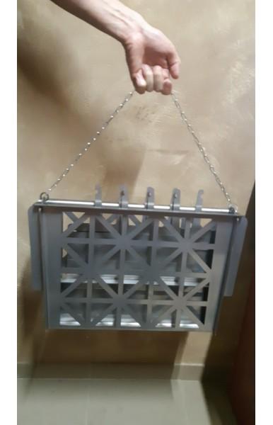 Вертикальный разборной мангал из нержавеющей стали 3 мм на 16 шампуров вес 14 кг.