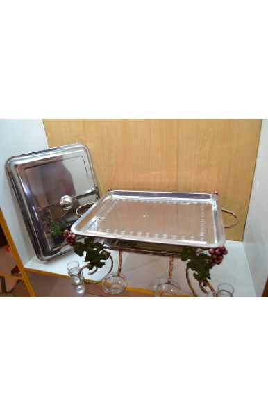 Садж набор для продуктов с стопками и соусницами в комплекте прямоугольный размер 42х32 см.