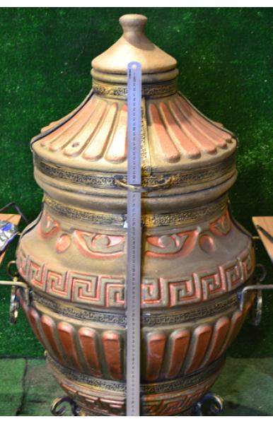 """Печь тандыр переносной Tehni-x """"Античный"""" 70 литров горловина диаметром 2 см."""